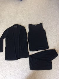 SLINKY BRAND New no tags women's 3 piece outfit,  sleeveless tank top, pull on pant , matching Jacket all Black. New  No tags  Fremont, 94536