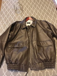 Leather Flight/Bomber Jacket - Brand New Long Beach
