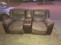 brown leather home theater sofa Surrey, V3S 2T6