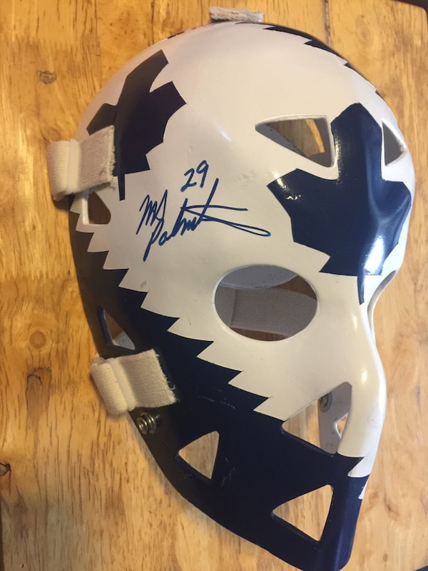 buy popular 784be 8dc5c Mike Palmateer Autographed Toronto Maple Leafs mask by Don Scott