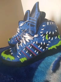 Jeremy Scott Adidas  size 10  men's slime additions tennis shoes Baltimore, 21201