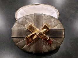 Silver and gold jewelry box