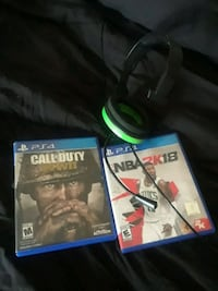 two Sony PS4 games and headset Wilkes-Barre, 18702