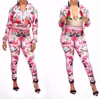 Rose Camouflage Legging Set