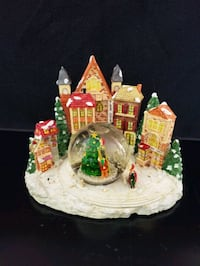 Christmas Snow Globe with Lights Christmas Holiday Village
