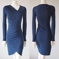 Aritzia Wilfred Free Klum Dress in Blue  Waterloo, N2T 2Y7