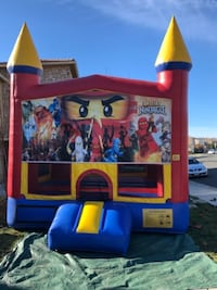 red and blue Little Tikes bounce house 2403 mi