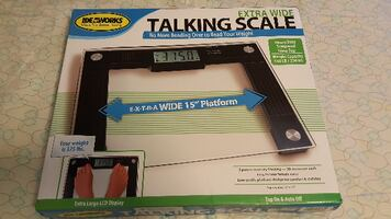 Ideaworks Extra Wide Talking Scale,  NEW