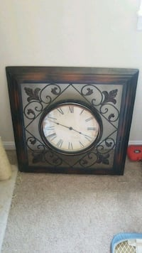 brown wooden framed analog clock Alexandria, 22311