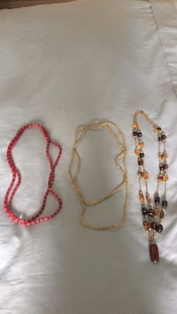 three multicolored beaded necklaces Surrey, V3V