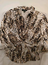 Women's Alfani Cheetah-print shirt Washington, 20012