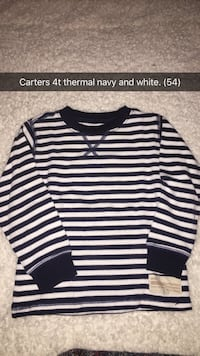 thermal navy and white stripe Carters sweater
