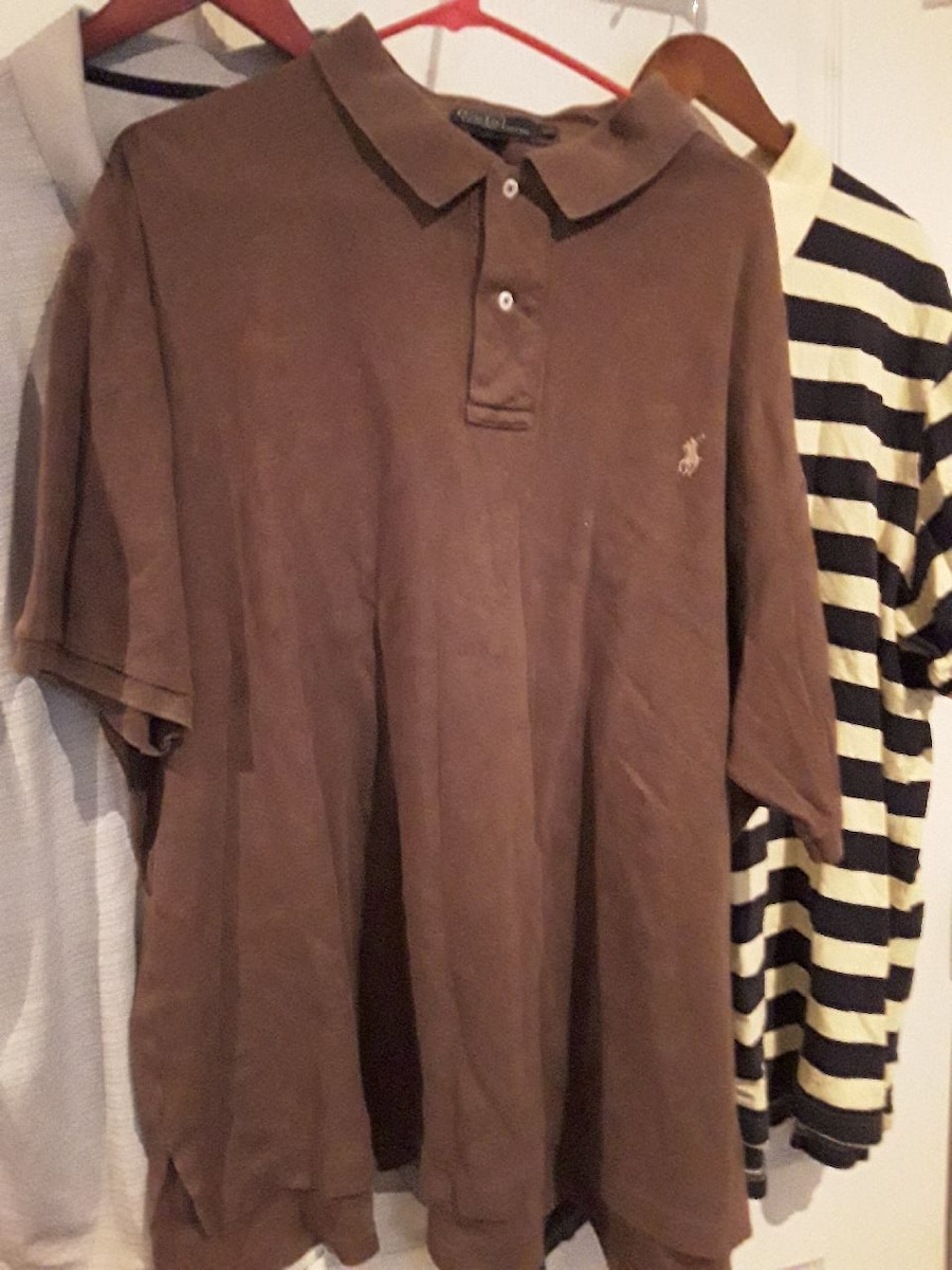 men's brown Polo by Ralph Lauren polo shirt for sale  Fayetteville