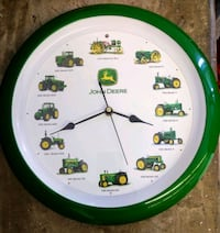 John Deere Wall Clock With Tractor Sounds on The H Oakton, 22124
