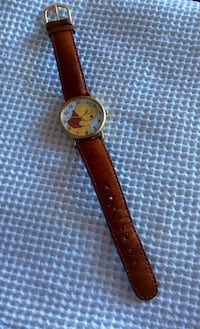Winnie the Pooh watch with leather band Qualicum Beach, V9K 1R6