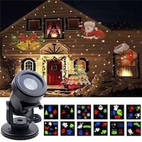 LED Projector Light Rotating Projection Lights with 12PCS Switchable Patterns Indoor Outdoor Waterproof Spotlight Christmas Halloween party Montréal, H3N 1A6