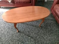 Maple Coffee Table Oval Solid GC Lyons, 14489