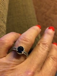Sterling silver sapphire ring size 7 real Livingston, 70754