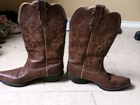pair of brown leather cowboy boots Corpus Christi, 78414