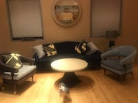 Navy sofa - matching chairs and coffee table  Las Vegas, 89109