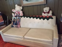 white wooden bed frame with white mattress Huntingtown, 20639
