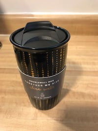 Me To We Double-wall Black & Gold 12oz Mug With Cover New(pick up only ) Alexandria, 22310