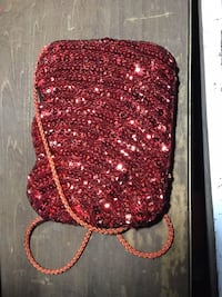 Red Sequined Small Coinpurse Apopka, 32703