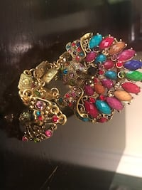 Fashion cuff multicolor bracelet with ring  Woodbridge, 22191