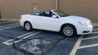 white and black convertible coupe