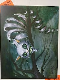 Kevin Eslinger  Chesire Cat Painting Print