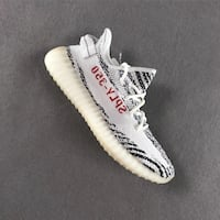 pair of white Adidas Yeezy Boost 350 V2 Silver Spring, 20901