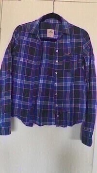 Hollister Women's Blue/Black Plaid Shirt (Size M) Oxnard, 93033