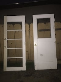 two white wooden framed glass doors Salinas, 93905