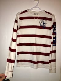 Brand new/tags on- Men's size Large red and white striped long sleeve shirt Edmonton, T5A