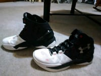 white-and-black Air Jordan basketball shoes High Point, 27263