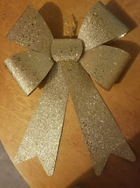 Gold decoration bow - pack of 10