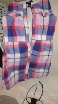 white, blue, and red plaid textile St. Louis, 63114