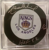 Marcel Dionne Autographed Puck Fall River