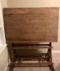 Reclaimed Wood Drafting Table Fort Mill