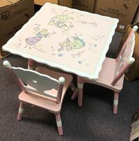 Wildkin Kids Fairy Wishes Table & 2 Chairs Set in Pink-Assembled  Cornelius, 28031