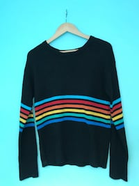 Black rainbow ribbed knit sweater Brampton, L6V 0J1