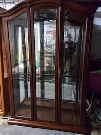 Glass display cabinet buffet credenza vaisselier kitchen dining hutch delivery livraison