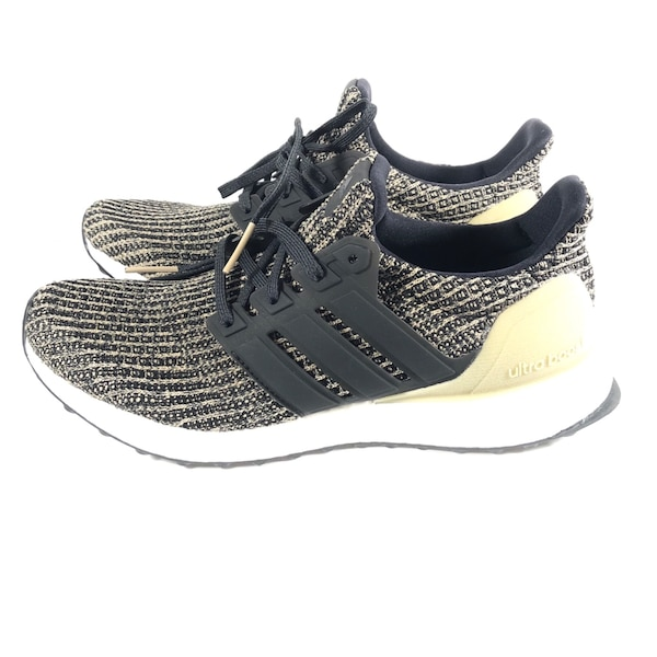 283a11bc7 Adidas Ultra Boost 4.0 Juniors Running Shoes Black-Raw Gold CP8776 Size 7