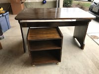 Wood desk with printer stand Fairfax, 22033