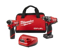 Milwaukee M12 FUEL 12-Volt Lithium-Ion Brushless Cordless Hammer Drill and Impact Driver Combo Kit (2-Tool) w(2) Batteries & Bag Fairfield, 94534