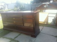 brown wooden dresser with mirror Calgary, T2A 4T7