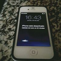 silver iPhone 4 with black case Lancaster, 93535