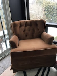 Brown Sofa Rocking Chair