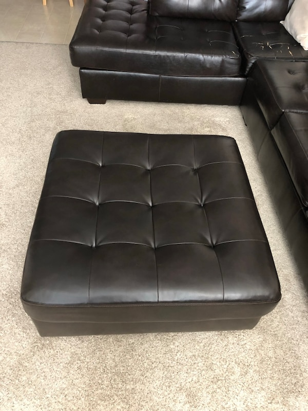 Alliston DuraBlend Chocolate Sectional w/ Ottoman 643afc78-5daa-4713-b606-c1ac4a006e26