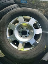 chrome 5-spoke car wheel with tire Temple Hills